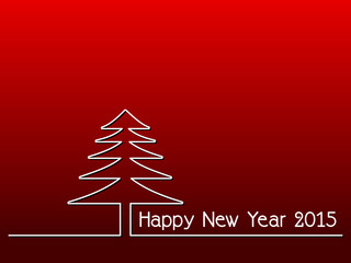 happy new year 2015 - simple red background