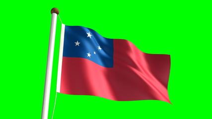 Samoa flag (seamless & green screen)