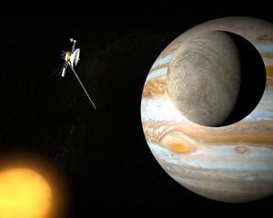 Satellite Europa, luna di Giove, spazio sonda voyager