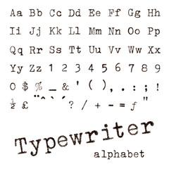 Typewriter alphabet.