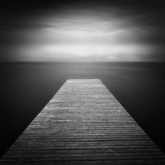 Bootssteg am See, Langzeitbelichtung