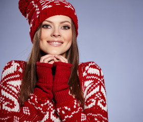 Beautiful winter slavic girl