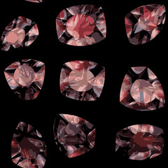Patterned pattern of crystals