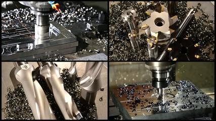 milling machine collage