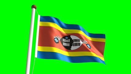 Swazi flag (seamless & green screen)