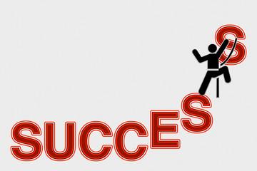 Uomo scala il successo