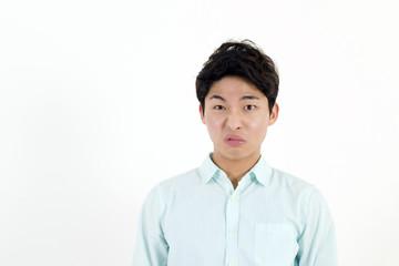 Frowning asian man