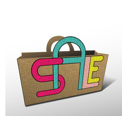 Sale bag for shopping