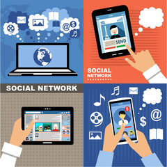 Social Networks. Internet communication.