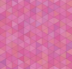 Seamless vector pink triangular pattern