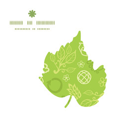 Vector environmental leaf silhouette pattern frame