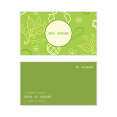 Vector environmental vertical round frame pattern business cards