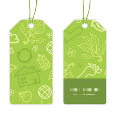 Vector environmental vertical stripe frame pattern tags set