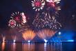 Salute on celebration Scarlet Sails, St. Petersburg, Russia - 73793913
