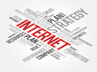 Word Cloud with Internet related tags, vector business concept