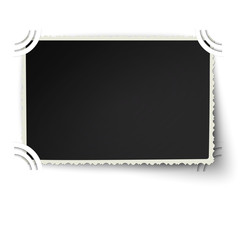 Retro figured edges photo frame with one not fixed corner