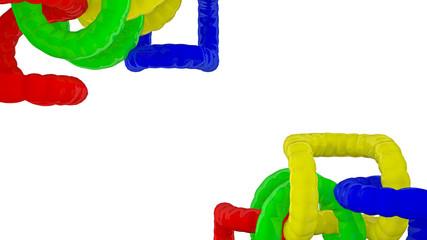 Farbige, Abstrakte Objekte
