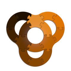 Circle Puzzle 15 - Orange XL