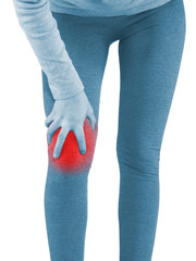 Human knee pain joint problem medical health care concept.