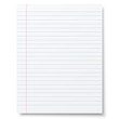 Notebook lined paper background isolated - 73795943