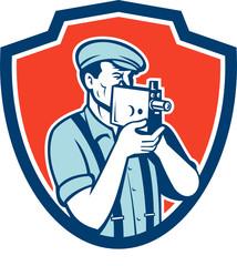 Photographer Shooting Vintage Camera Retro