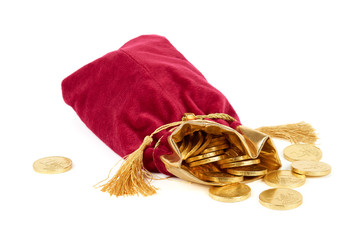 Red sack and golden euro