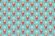 Santa claus seamless pattern