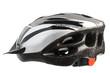 Grey bicycle cross country plastic helmet