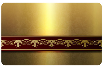 Gold gift or business card template.
