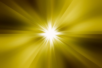Star burst  yellow fire.