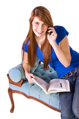 Teenager Talking on the Cell Phone