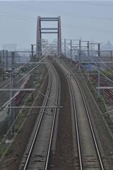 La ligne des T.G.V. en gare de Haren Sud