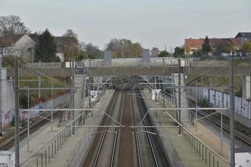 La gare de Haren sud en région Bruxelloise