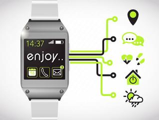 montre connectée : applis (vert)