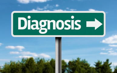 Diagnosis creative green sign