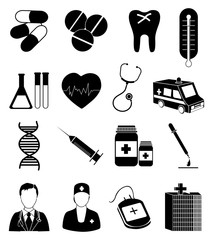 Healthcare medical service icons set
