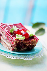 Chocolate cake with cherry