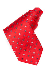 a coiled tie