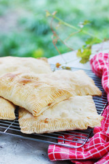 Pies with apples of puff pastry