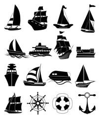 Ships icons set