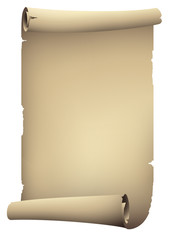 old scroll paper banners , vector drawing