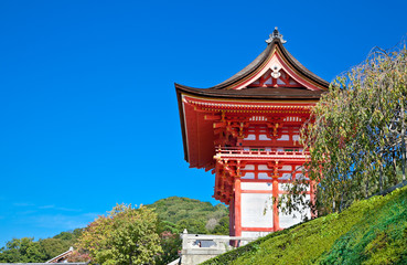 Kiyomizu-dera temple in Kyoto, Japan.