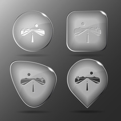 Road. Glass buttons. Vector illustration.