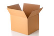 Leinwandbild Motiv Open cardboard box closeup