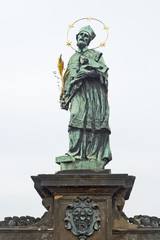 John of Nepomuk statue on Charles bridge in Prague