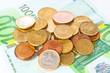 Cash Euro closeup