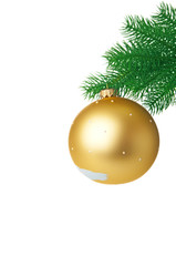 Fir branch with Christmas ball