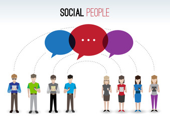 Social people concept