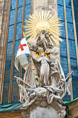 Statue of St. Francis at St. Stephan Cathedral in Vienna