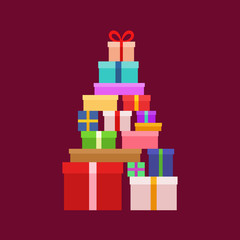 Stack of Christmas Boxes
